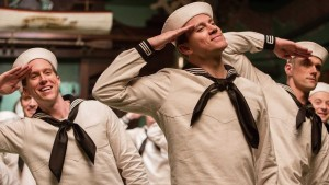 Channing Tatum and dancers in the No Dames scene, Hail, Caesar!