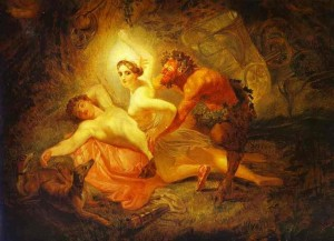 Karl Bryullov's painting of Endymion, Diana and the Satyr