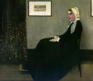 Brandis as Whistler's Mother on the George Brandis Life Art Experience Facebook page