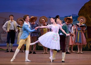 Vadim Muntagirov, Laura Morera and Paul Kay in La Fille mal gardée, photo © ROH, Tristram Kenton