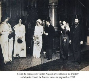 Vaslav Nijinsky and Romola de Pulszky's wedding, 1913