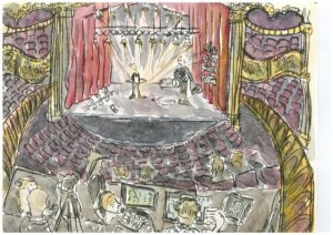 The Lighting Rehearsal, illustration by Brenda Tye