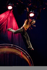 Wheel of Death act, Photo: Matt Beard Costumes, Marie-Chantale Vaillancourt © 2012 Cirque du Soleil