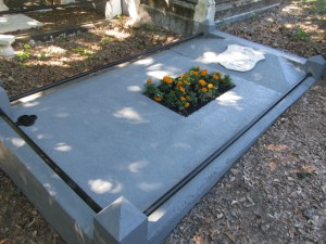 Károly (Charles) Pulszky's grave, after reconstruction, at Toowong Cemetery, Queensland