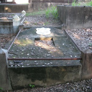 Károly (Charles) Pulszky's grave, before reconstruction, at Toowong Cemetery, Queensland