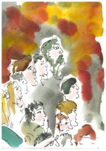 The Audience, illustration by Brenda Tye