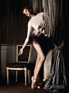 Alexina Graham in A Pointe to Remember fashion shoot for the middle east magazine, Mojeh, photo © Sy Delorme