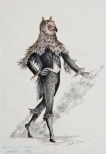 Kristian Fredrikson's design for von Rothbart, Swan  Lake, Royal New Zealand Ballet