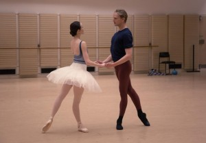 Amber Scott and David Hallberg in the Australian Ballet's rehearsal room at the Sydney Opera House, photo © Kate Longley