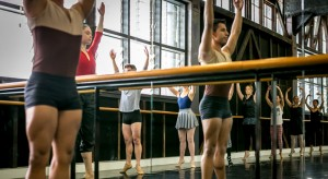 A ballet class at the Sydney Dance Company studios