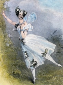 Lithograph by Chalon and Lane of Marie Taglioni as Flora in Didelot's Zéphire et Flore. London, 1831