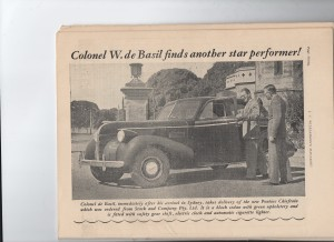 Colonel de Basil takes delivery of Pontiac Chieftan