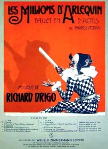 Les Millions d'Arléquin, cover for score by Riccardo Eugenio Drigo