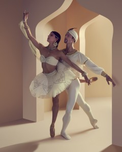 Yanela Pinera and Joel Woellner, La Bayadere, Queensland Ballet, photo © Justin RIdler