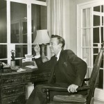 Robert Helpmann at home in London