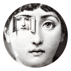 Fornasetti outside and inside the window face