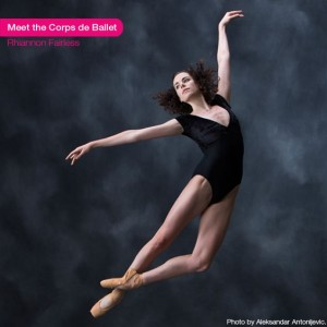 Rhiannon Fairless as a corps de ballet artist at the National Ballet of Canada