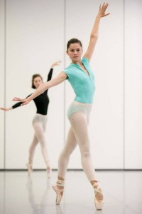 Valerie Tereshchenko rehearsing In the Middle, Somewhat Elevated, photo © Lynette Wills