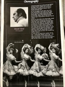 A page from The Australian Ballet's Merry Widow program, 1993